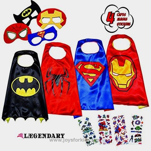 LAEGENDARY Superhero Costumes for Kids – 4 Capes and Masks – Glow Superhero Logo  BUY NOW     $35.99      Prepare For   LÆGENDARY Play Sessions With This Superhero Costume Set   Say hello to the most glorious superhero squad to  ..  http://www.joysforkids.top/2017/03/01/laegendary-superhero-costumes-for-kids-4-capes-and-masks-glow-superhero-logo/