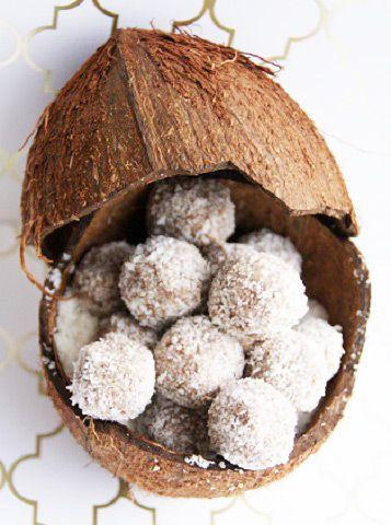 wunderbaren Kokos Pralinen.