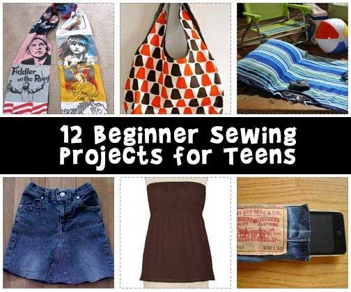 Here's 12 easy and fast teen sewing projects, most made with less than a yard of fabric or recycled old clothes!