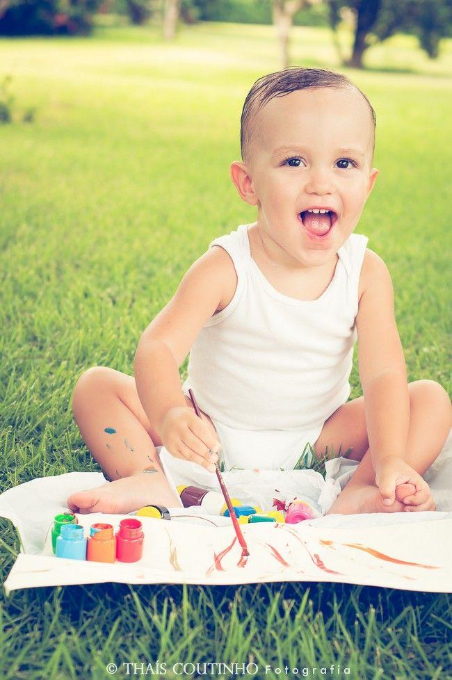 toddler photo shoot, painting
