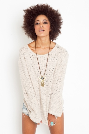 knit + love her hair!