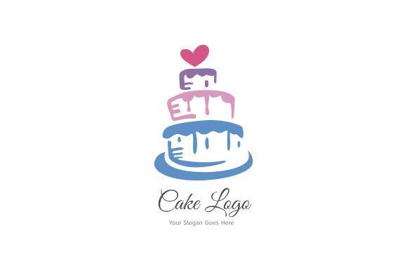 graphic design cake logo Cake Logo Template Graphic by hallimsib1 · Creative Fabrica