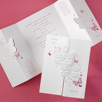Butterfly in Full Color - Invitation - Quinceanera Invitations - Quinceanera Ideas | Quinceanera ...