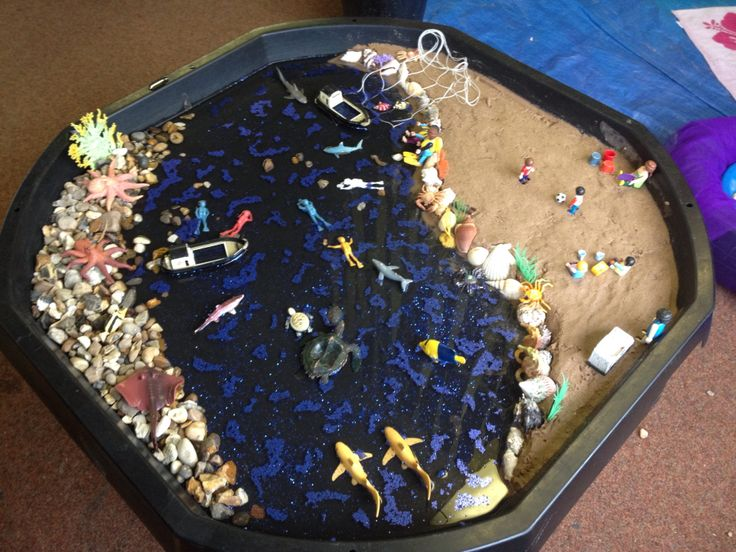 Beach small world ideas I love these containers for setting imaginary worlds - a great size for Lego friends