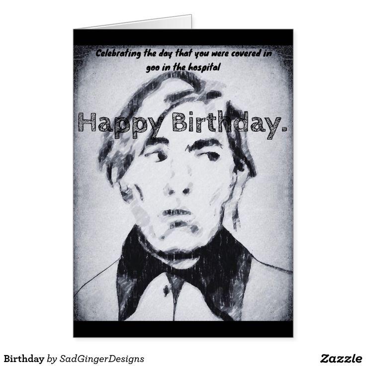 Birthday Greeting Card #darkart #art #drawing #illustration #funny #gingerart #mixedmedia #hipster #sadgingerdesigns #greetingsfromasadginger #greetingcards #specialoccasions #birthday #birthdaycard #funnybirthdaycard