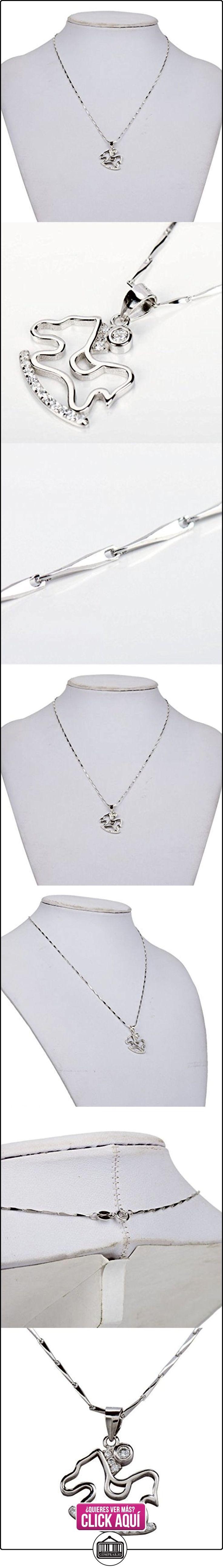 Lackingone Colgante collar de PLATA PURA para mujer para chica de 45cm Diseño Caballo de balancín  ✿ Joyas para mujer - Las mejores ofertas ✿ ▬► Ver oferta: http://comprar.io/goto/B0187EG3PQ