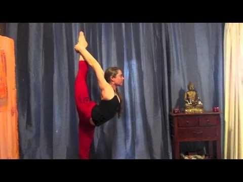 Full Standing Bow Pose - Rowena Jayne Yoga Instructor Naturopath Raw Food Chef