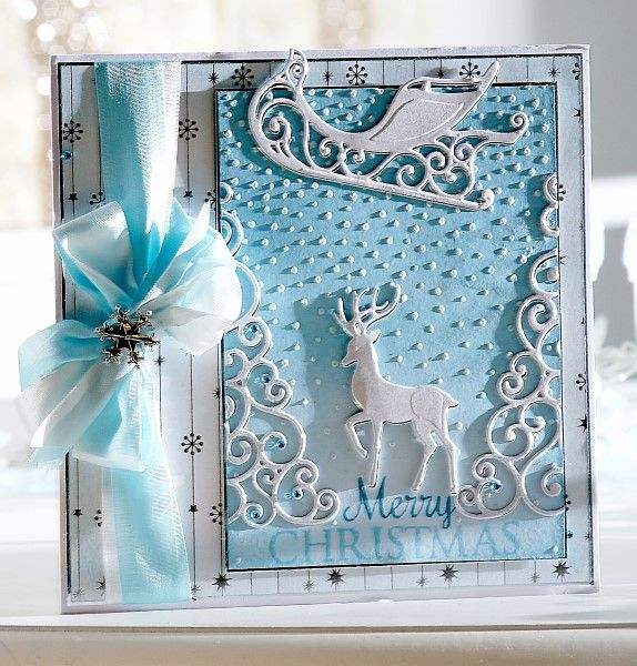 Card made using the Sara Signature Contemporary Christmas collection from Crafter's Companion #crafterscompanion