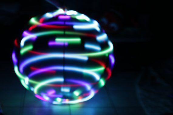 LED Hoop Rainbow Flash Hula Hoop sizes 26OD 38OD by HoopNerd