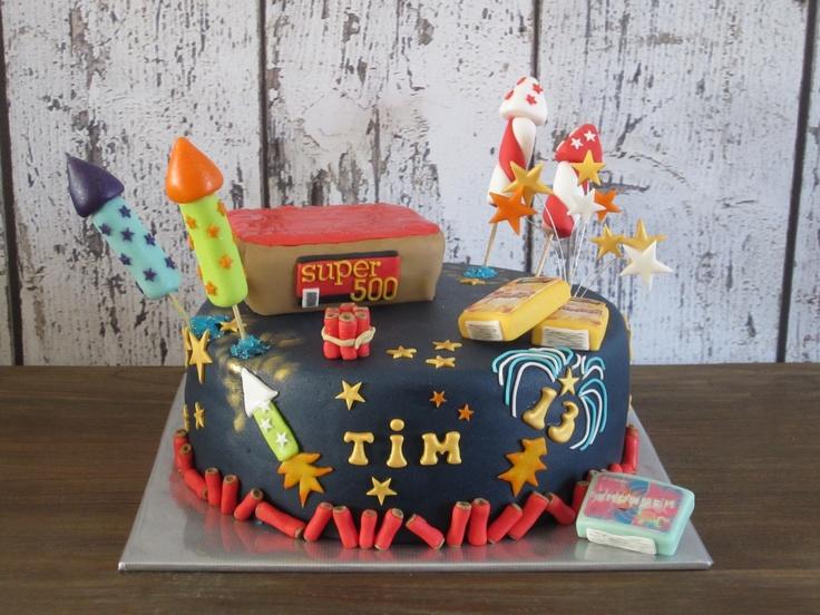 Fire works cake!