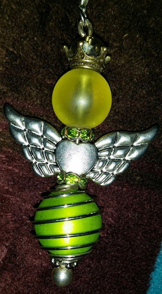 Halskette Schutzengel mit Swarovski-Perlen, Engel grün gelb  in Uhren & Schmuck, Modeschmuck, Halsketten & Anhänger | eBay!