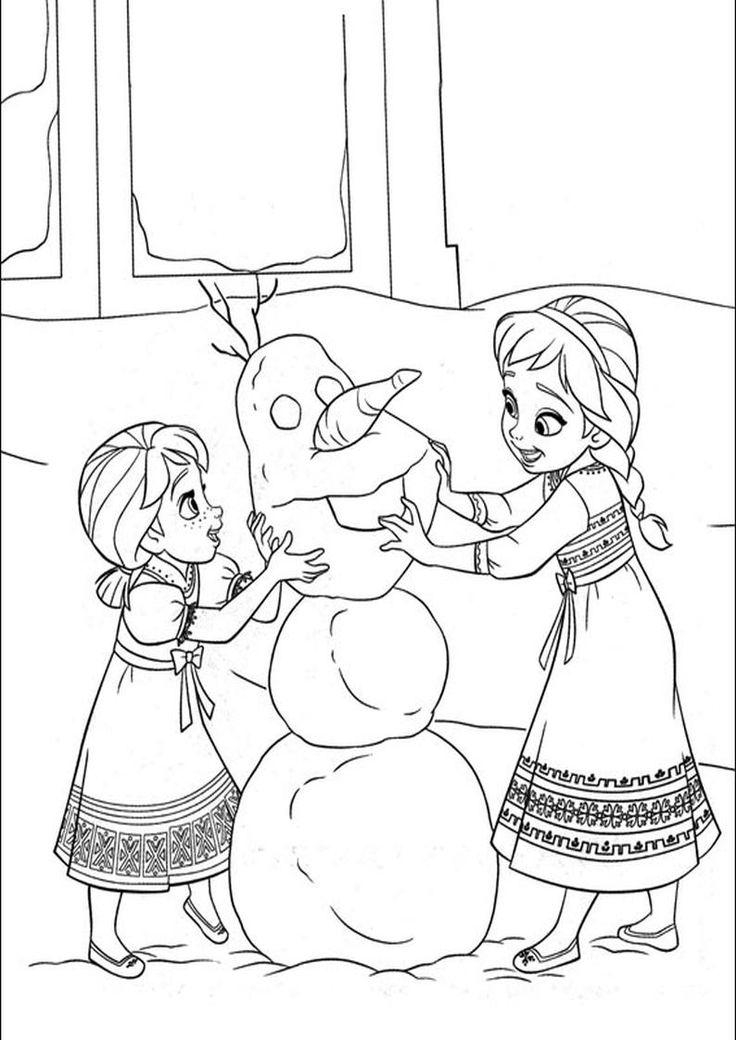 Kolorowanka dla dzieci - Disney - Kraina lodu