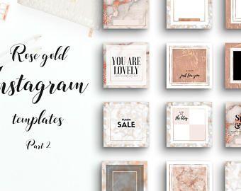 Lovely instagram templates - rose gold