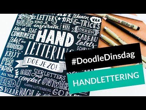 DoodleDinsdag: Handlettering doe je zo - Karin Luttenberg | NerdyMommy - YouTube