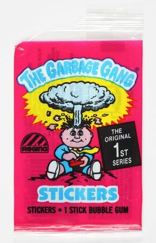 Bubble Gum wrapper, 'The Garbage Gang', 1988