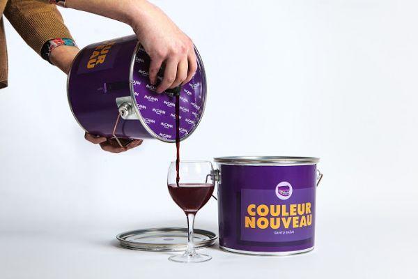 Wine Packaged in a Paint Bucket