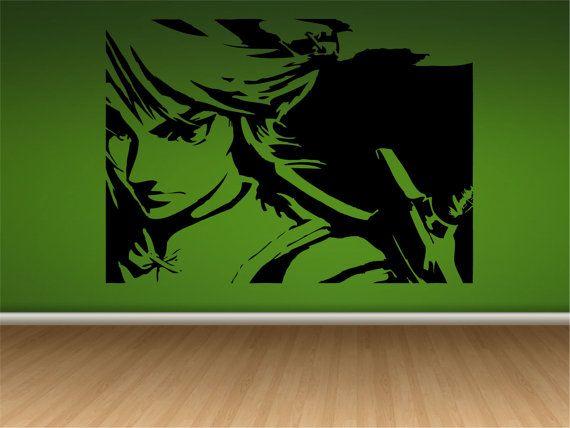 Zelda Wall Decoration : Link from legend of zelda wall decal art