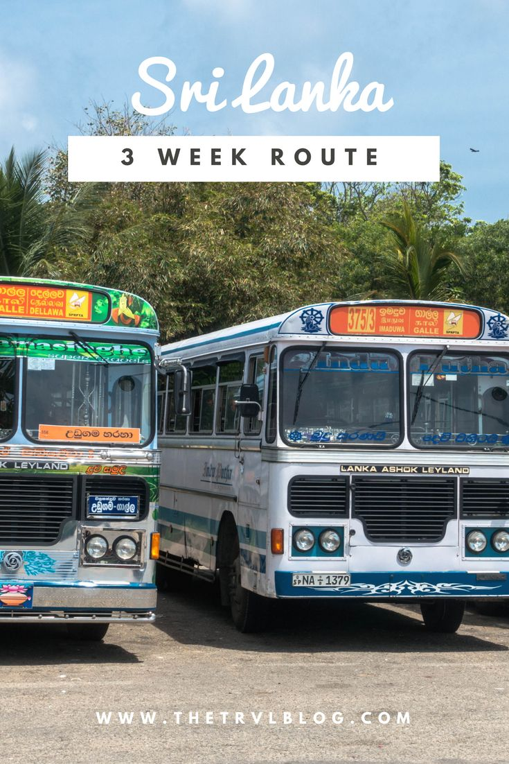 The perfect 3-week route through Sri Lanka. This route has something for everyone... Wildlife, beaches, treks and more. Click the link to see the route for yourself!