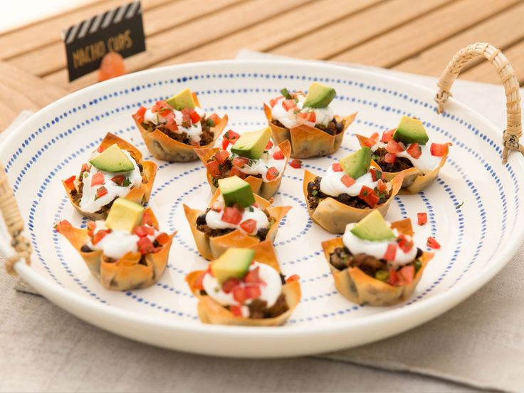155 best amuse bouche images on pinterest appetisers app and fully loaded nacho cups recipe from patricia heaton parties via food network forumfinder Choice Image