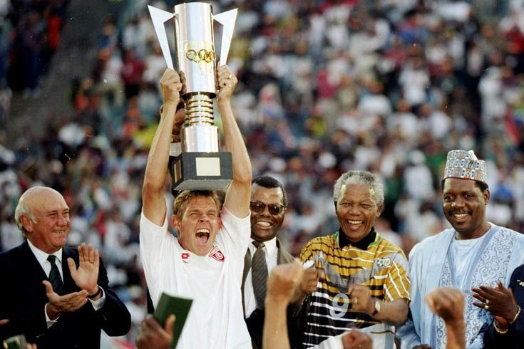 1996: For many black South Africans, the country's proudest sporting moment came when it won the African Nations Cup on home turf in 1996.