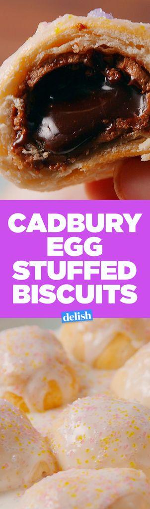This Recipe Proves Cadbury Eggs Belong Stuffed In Biscuits   - Delish.com
