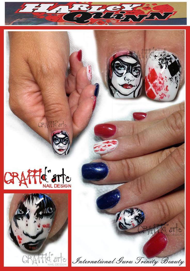 #harleyquinn #joker #batman #graffidarte #nailart #unghie