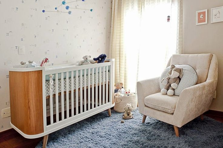 Neutral room with retro style for boys