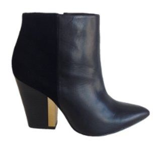 Heide Ankle Boot in Black Leather by Siren