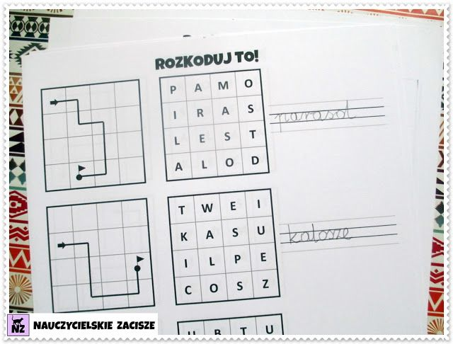 Kodowanie programowanie dla dzieci karty pracy