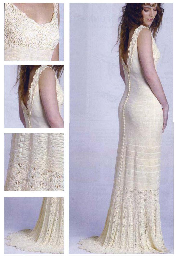 Crochet wedding dress with diagram #3 - Traje de novia con diagrama