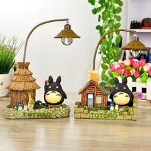 Komşum TOTORO LED Gece Işık Çocuk Oyuncakları Şekil Stüdyo Ghibli Miyazaki Hayao Reçine 24 cm Eylem Figuras Doll 160824(China (Mainland))