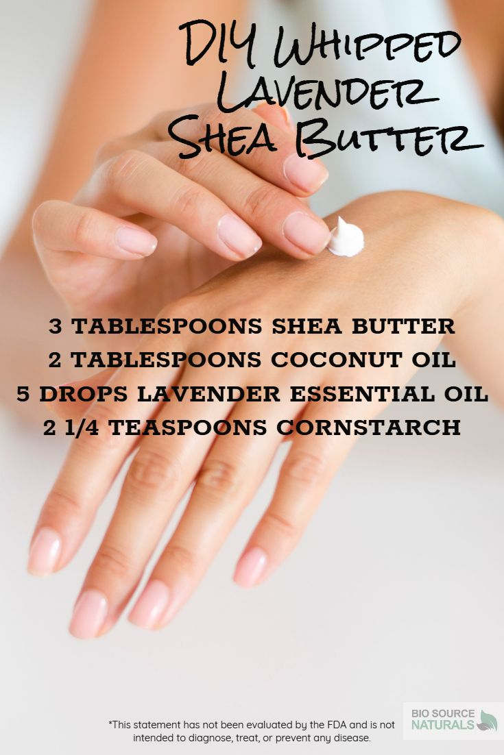This recipe consists of shea butter, coconut oil, lavender, and cornstarch. The coconut oil is a great addition because it helps repair the lipid barrier and is naturally chock full of fatty acids, making it very moisturizing and healing. The shea butter nourishes dry cells in the stratum corncum, while lavender essential oil soothes, heals, and smells wonderful.  #aromatherapy