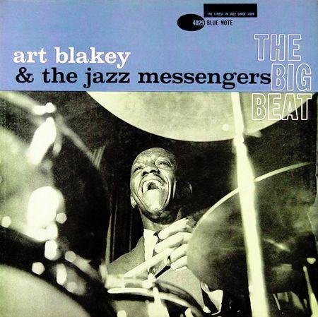 "Art Blakey: The Big Beat   Label: Blue Note 4029   12"" LP 1960   Design: Reid Miles   Photo: Francis Wolff"