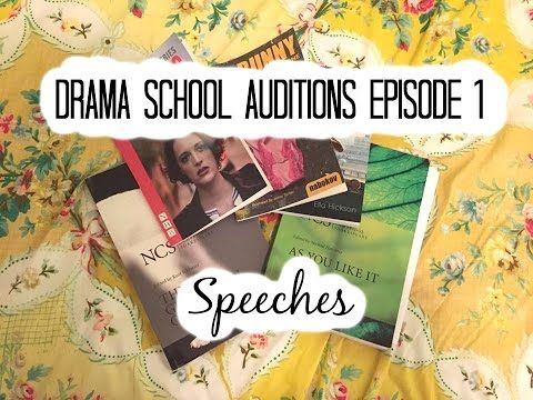 Drama School Auditions Episode 1 (Speeches) | Imogendsc - YouTube