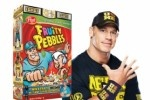 "John Cena Replaces Fred Flintstone on Cereal Box Cover----took a negative ""insult"" the Rock gave him and turned it into a positive and taught his young fans to ""Rise Above Hate."" this is why I admire this man! :-D"