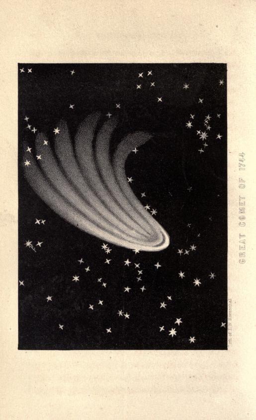 Great Comet of 1744, A Popular Treatise on Comets, James C. Watson, 1861.