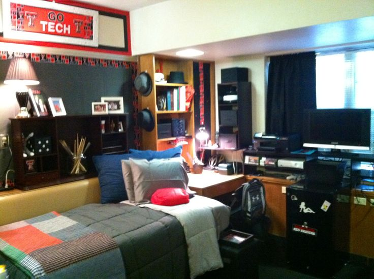 James dorm room at Texas Tech.
