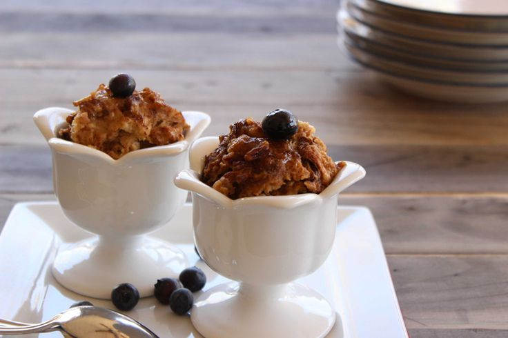 Skinny Slow Cooker  Cinnamon and Pecan Bread Pudding