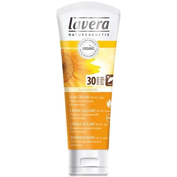 LAVERA Crema protectie solara inalta SPF 30 SUN SENSITIV - http://nicosmetice.ro/protectie-solara/lavera-crema-protectie-solara-inalta-spf-30-sun-sensitiv-3425-biocosmeticsro/