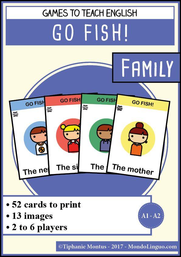 Jeu de cartes en anglais :Go fish sur la famille - Mondolinguo - Français
