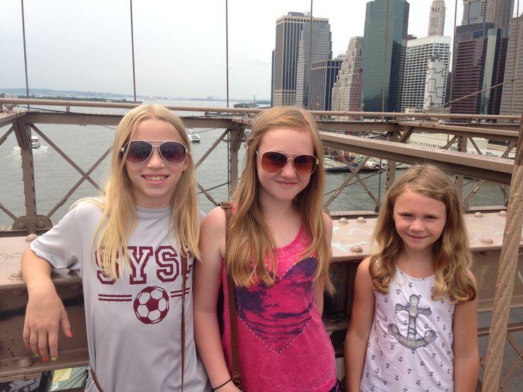 We walked the Brooklyn Bridge in New York City