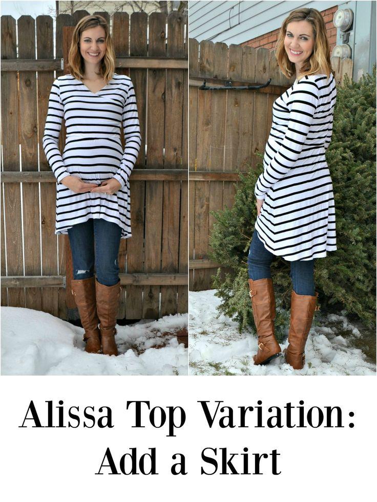 Alissa Top Variation: Add a Skirt // DIYmaternity.com
