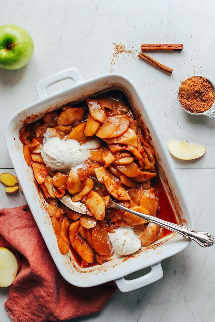 Cinnamon Baked Apples Minimalist Baker Recipes Recipe Baked Apples Cooked Apples Easy Baking Recipes