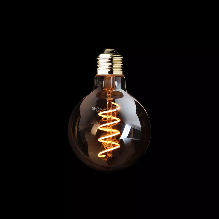 G95 Amber Shape,3w Dimmable Edison Spiral Filament Led Bulb,Super Warm 2200k,E26 E27 Base,Decorative Household Lighting Energy Saving Light Bulbs Light Bulb Types From Century_light, $37.56| Dhgate.Com