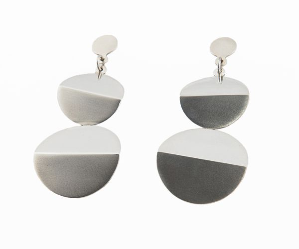 Twin Planets Silver Earrings part of the 120Degrees Collection