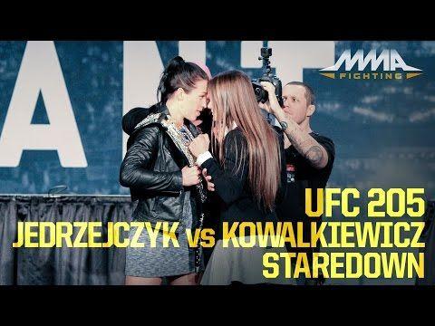 MMA UFC 205: Joanna Jedrzejczyk vs. Karolina Kowalkiewicz Staredown
