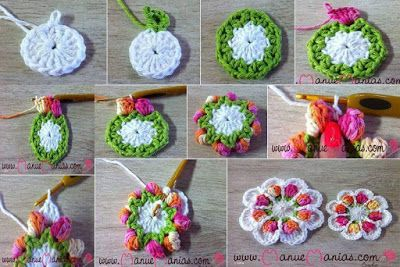 16 Esquemas de flores en cuadritos para proyectos   Tejidos a Crochet