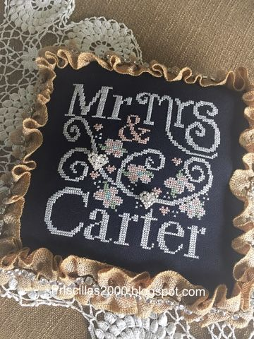 Priscillas: The Chalkboard Stitchy Ring Bearer Pillow