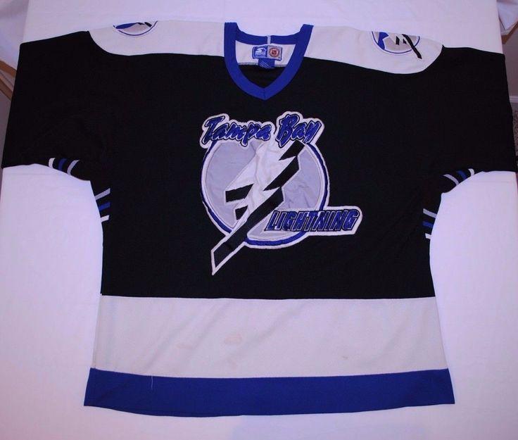 Vintage Starter Tampa Bay Lightning NHL Hockey Jersey Stitched Size XL Throwback