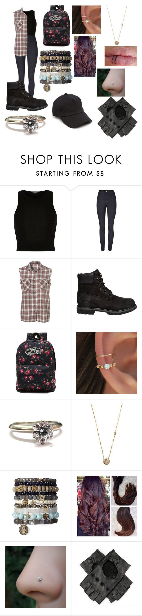 """027"" by emilypaul0400 on Polyvore featuring River Island, Timberland, Vans, Tiffany & Co., Blu Bijoux, Black and rag & bone"